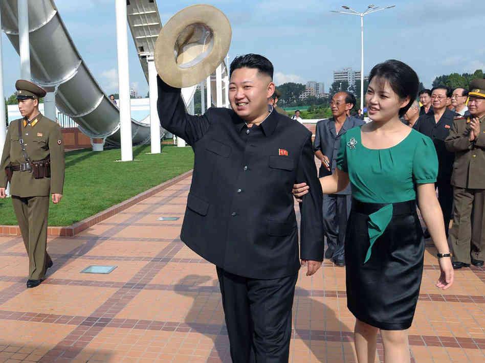 Kim Jong Un with woman