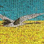 Arirang - Mass Gymnastics - North Korea - backdrop birds