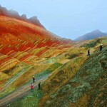 Danxia Rainbow Mountains - Farmers