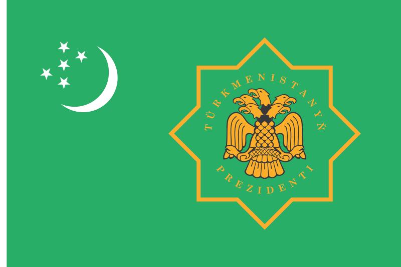 Flag - Turkmenistan Presedential Standard
