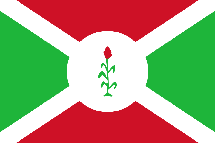 Flag of Burundi - 66 to 67