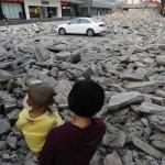 Car Park Demolished Around Car - China News - ground