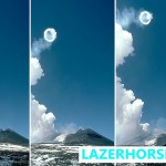 Volcanic Smoke Rings - Stromboli' s volcano - Lazer Horse - Rare Picture - Series
