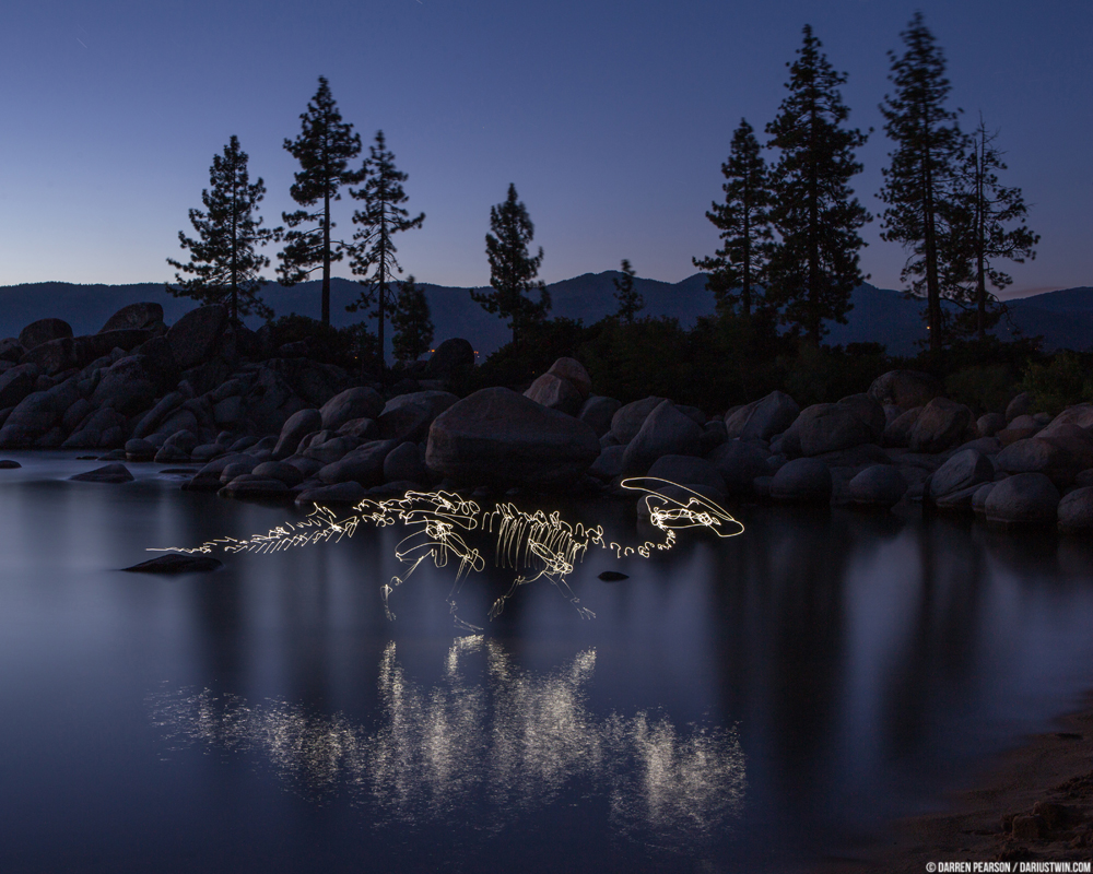 Darius Twin - Light Leak Art - Red Rock Canyon