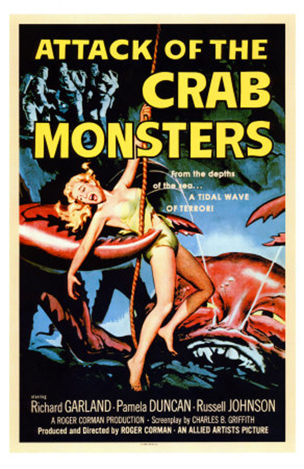 Old Horror Films - Retro Film Posters - Attack Of The Crab ...