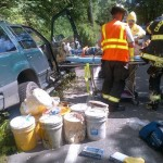 Paint Car SUV Crash Art Installation Accident - Emergency Services