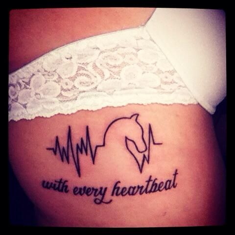 Horse Tattoo Heartbeat Sexy
