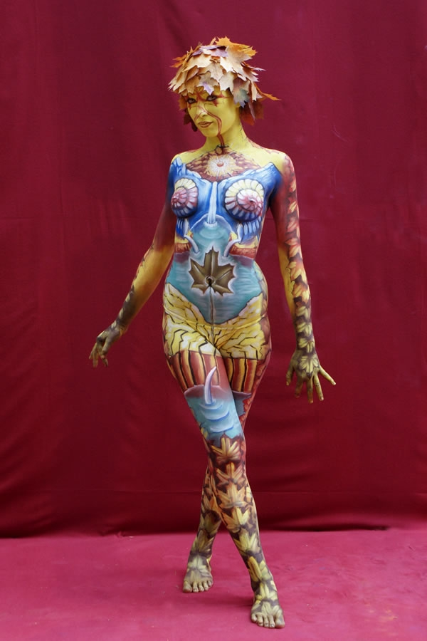 Johannes-Stotter-body-painting - autumn