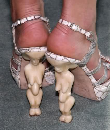 Worst Shoes - ancient statue heels