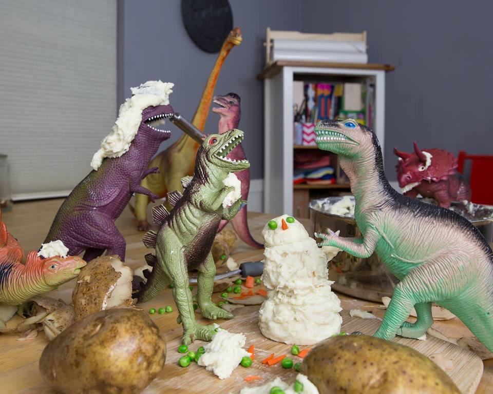 Dinovember mashed potato