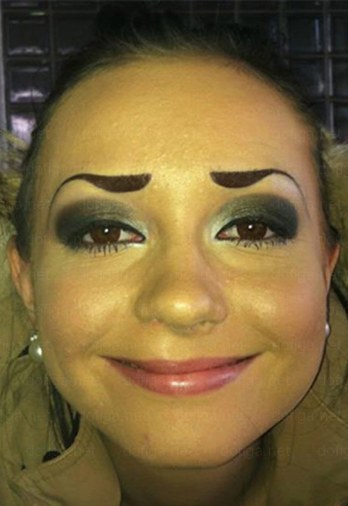 Bad Drawn On Eyebrows | Car Interior Design