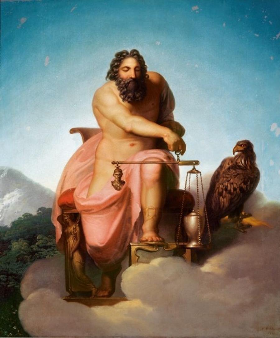 Nikolai Abraham Abildgaard - Jupiter Weighs The Fate Of Mankind