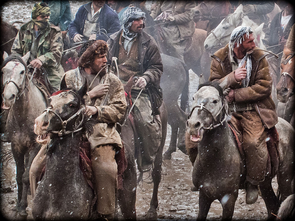 Buzkashi horseman from Afghanistan