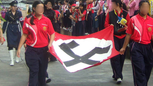 Thai School Sacred_Heart_Nazi_Parade 2