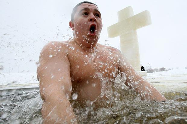Epiphany Bathing 2014 - St Petersburg