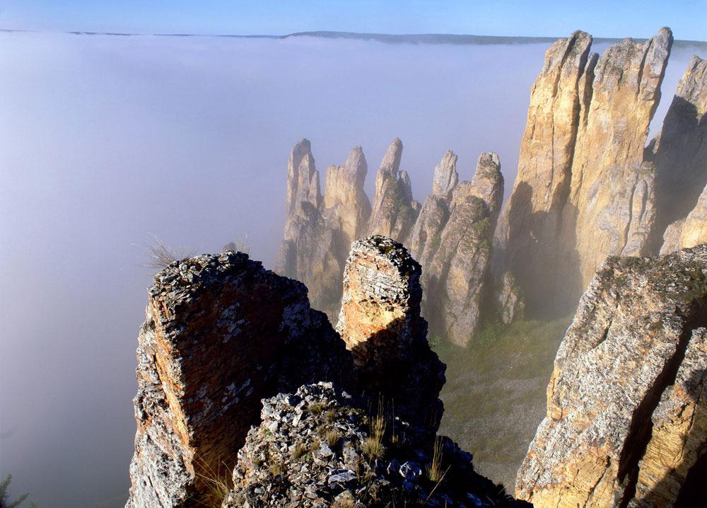 Lena Pillars - Russia Yakutsk - from above