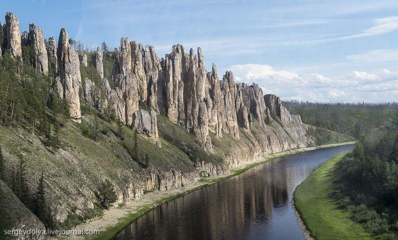 Lena Pillars - Russia Yakutsk - geology