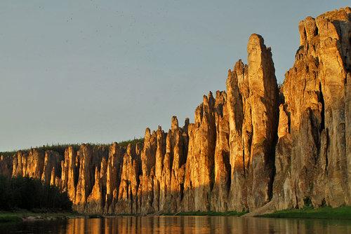 Lena Pillars - Russia Yakutsk - sunset