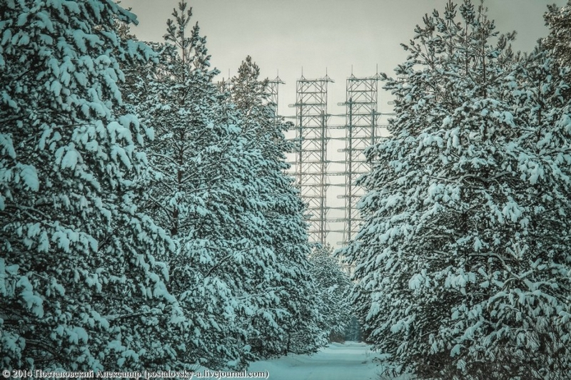 Chernobyl In Winter - Pylon