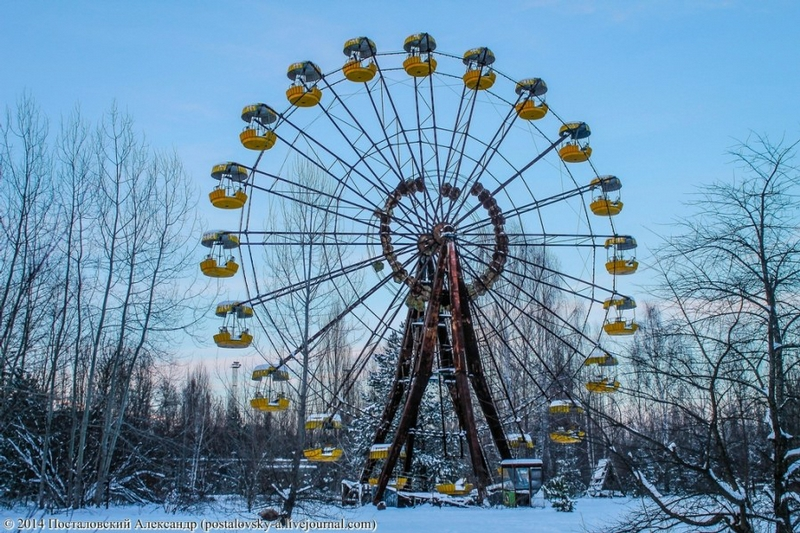Chernobyl In Winter - Wheel
