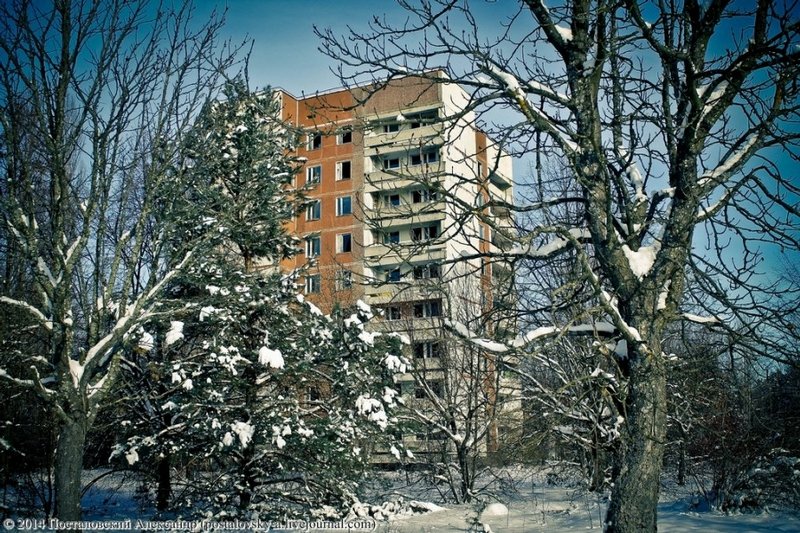Chernobyl In Winter - flats