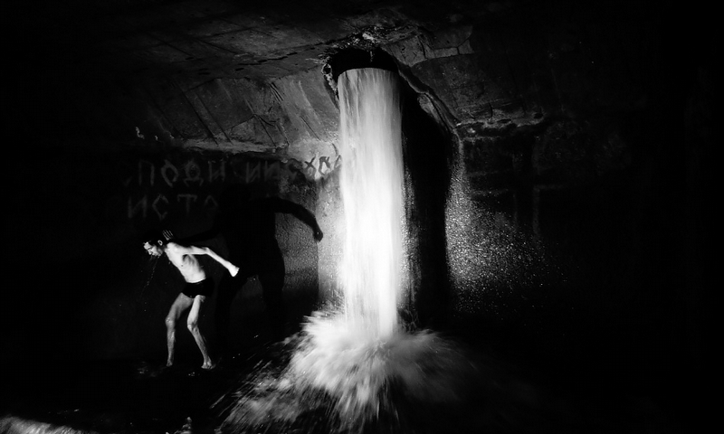 Epiphany Bathing Russia Moscow Underground Column of death