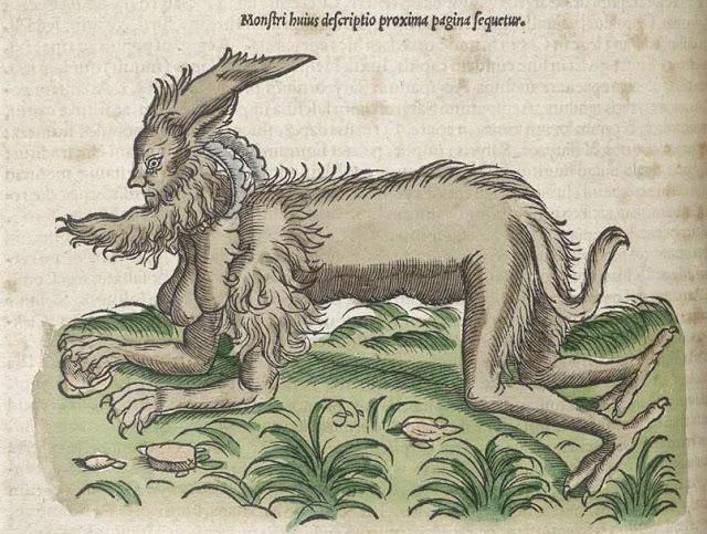 Medieval Monsters - Conrad Gesner's Historiae animalium - satyr