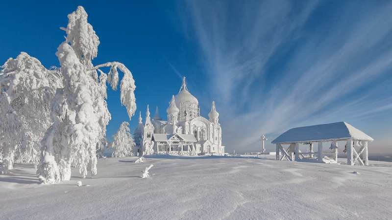 Winter In Russia Vladimir Chuprikov - Snow scene