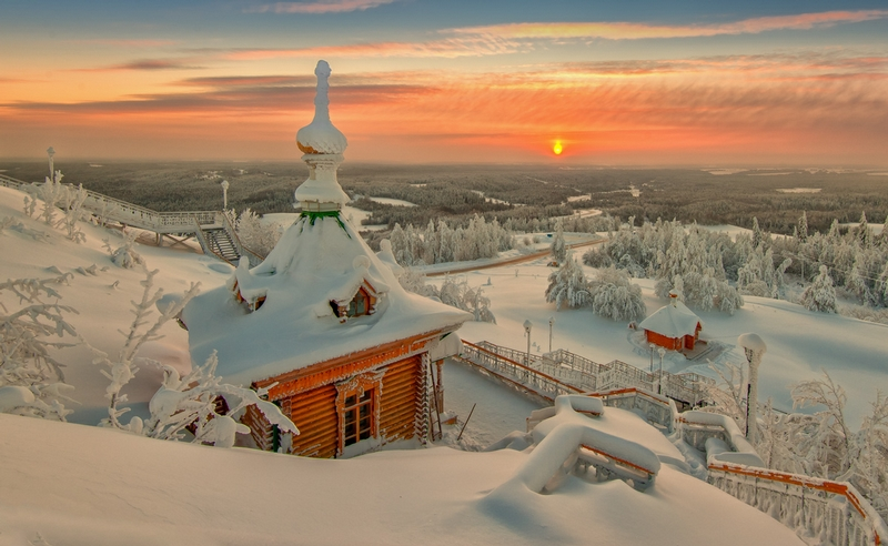 Winter In Russia Vladimir Chuprikov - beautiful view