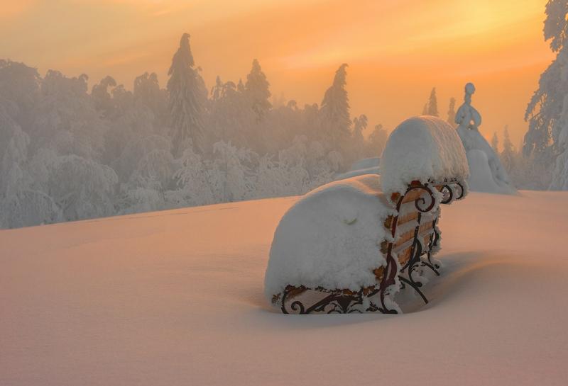Winter In Russia Vladimir Chuprikov - bench
