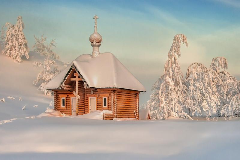 Winter In Russia Vladimir Chuprikov - church 2