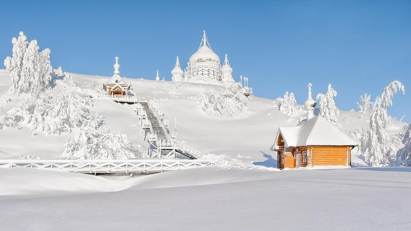 Winter In Russia Vladimir Chuprikov - church