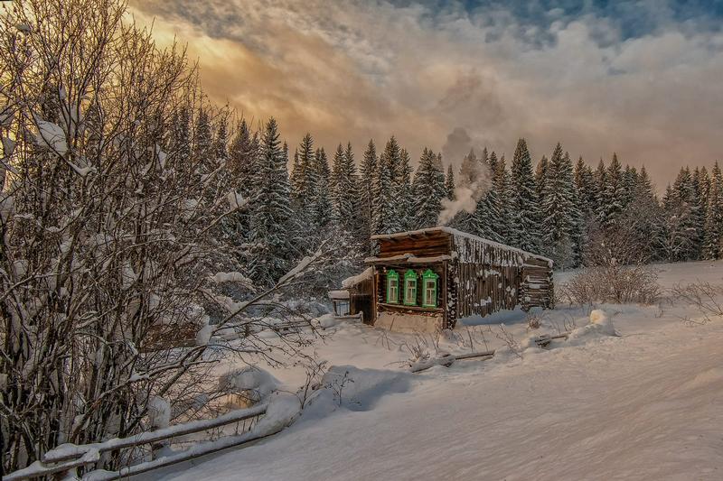 Winter In Russia Vladimir Chuprikov - hut 2