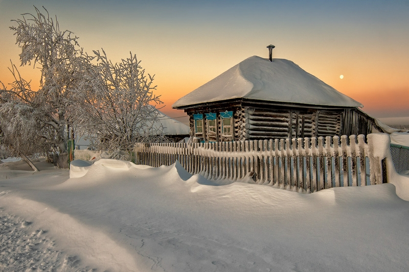 Winter In Russia Vladimir Chuprikov -  low sun