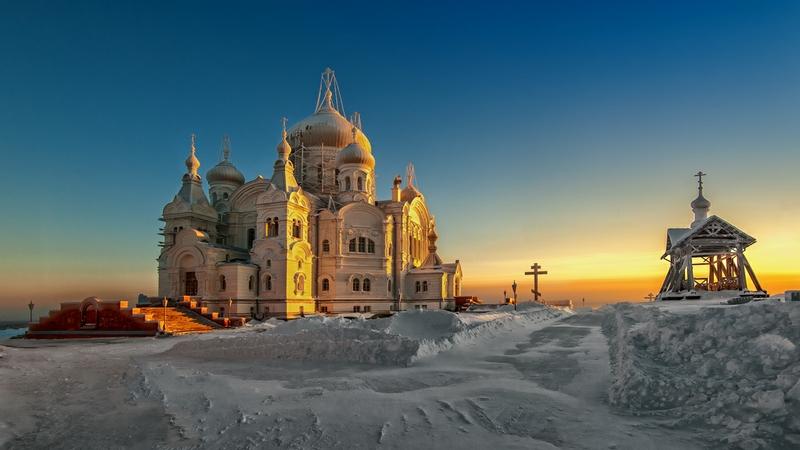 Winter In Russia Vladimir Chuprikov - sun down