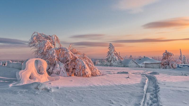 Winter In Russia Vladimir Chuprikov - sunset