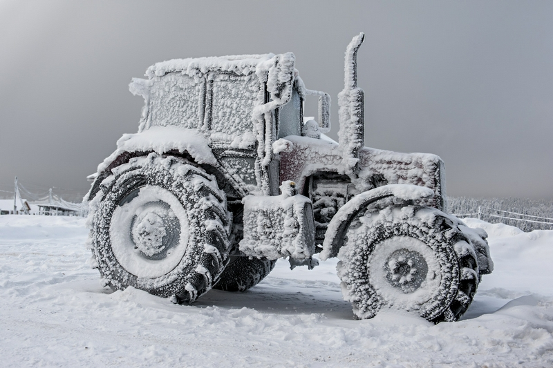 Winter In Russia Vladimir Chuprikov - tractor covered in snow