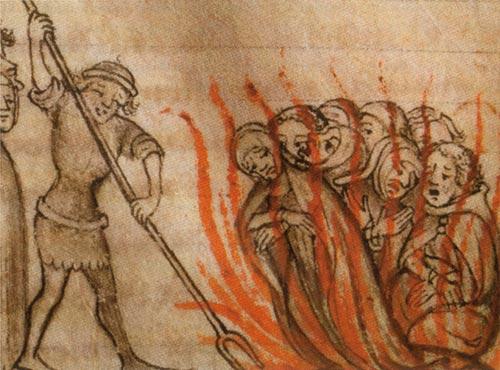 Baphomet - Templars Burned at the stake