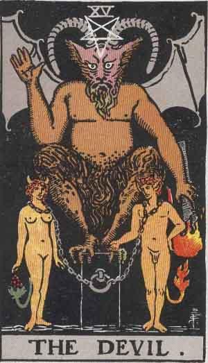 Baphomet - The Devil Tarot Card