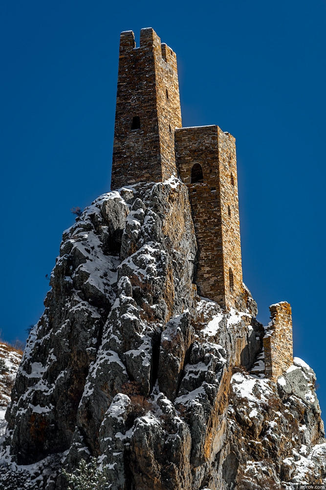 Ingushetia Watch Towers Russia History snow covered impressive