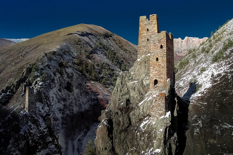Ingushetia Watch Towers Russia History valley