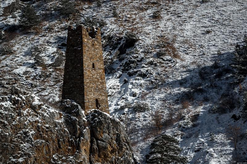 Ingushetia Watch Towers Russia close up