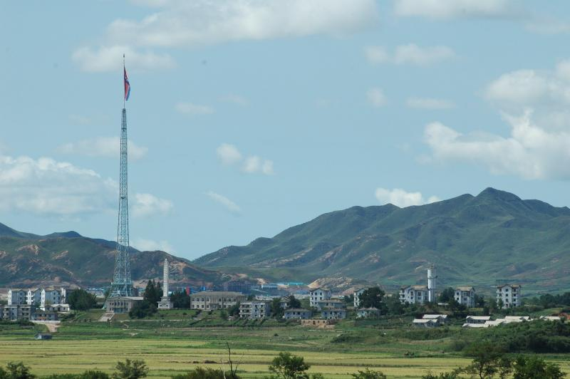 Kijong-dong - Propaganda Village - pole