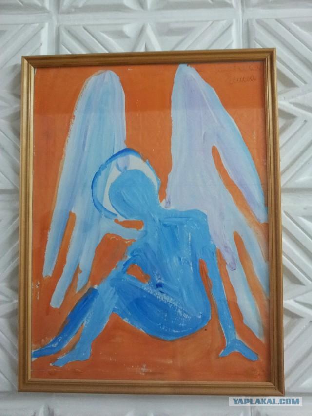 Russian Psychiatric Ward Wall Art - blue angel