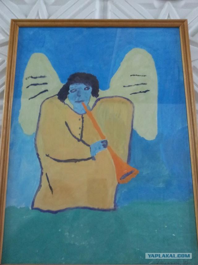 Russian Psychiatric Ward Wall Art - trumpet blue angel