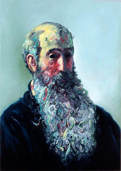 glenn brown artist big beard