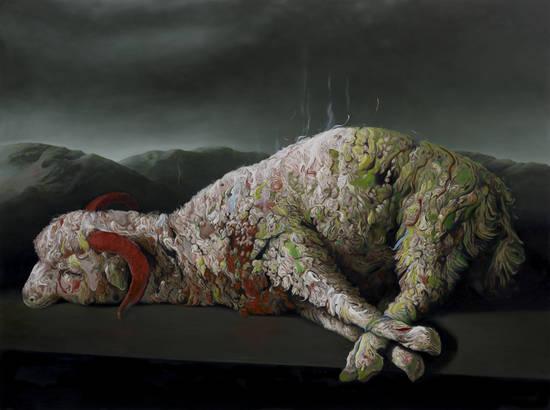 glenn brown artist dead sheep
