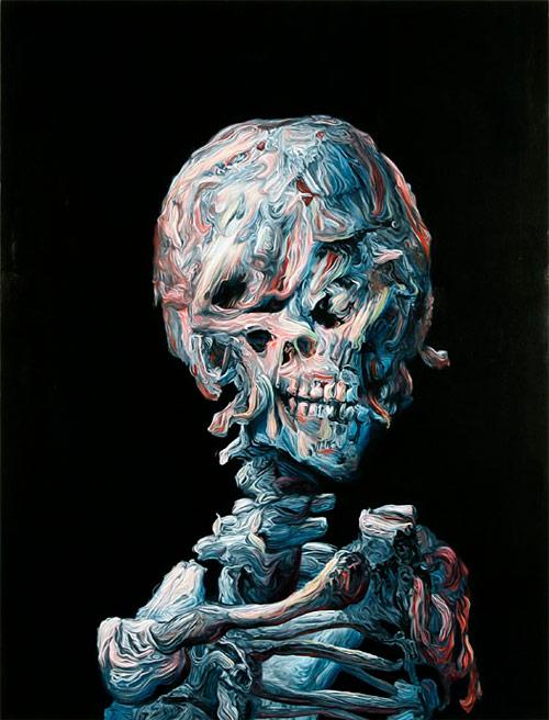 glenn brown artist skeleton