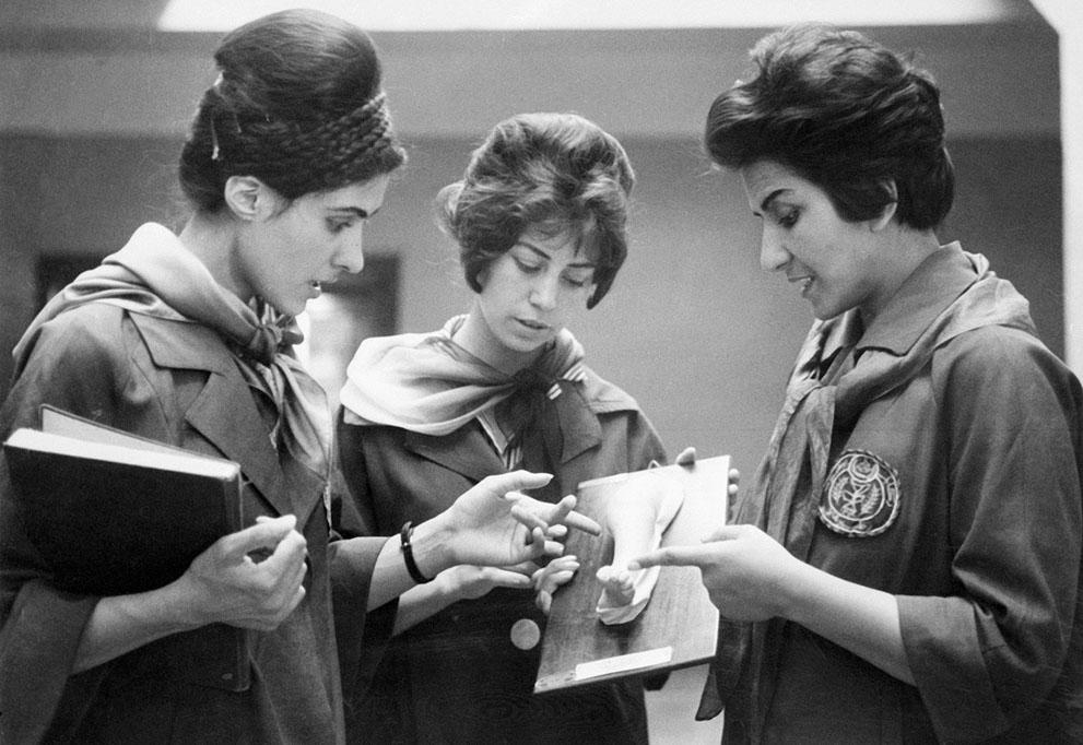 Afghanistan 50s 60s - modern women students