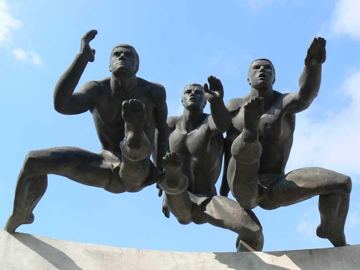 Belarus Statues - Dynamo Stadium Entrance Minsk athletes